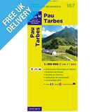 'TOP 100' Series: 167 Pau / Tarbes Folded Map
