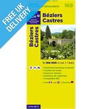 'TOP 100' Series: 169 Beziers / Castres Folded Map