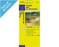 'TOP 100' Series: 172 Toulon / Aix-en-Provence Folded Map