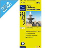 'TOP 100' Series: 190 Paris/Chantilly/Fontainebleau Folded Map