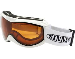 Toxic Ski Goggles (Shiny White/Double Orange)