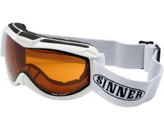 Toxic Ski Goggles (Shiny White/Double Orange Mirror)