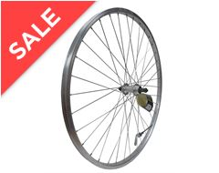 Rear Wheel 700C Alloy Rim Silver
