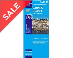 'TOP 25' Series: 3643 ET Cannes/ Grasse/ Cote d'Azur Map