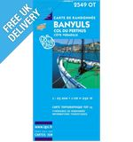 'TOP 25' Series: 2549 OT Banyuls/ Col du Perthus/ Cote Vermeille Map