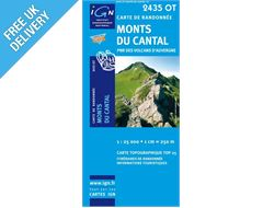 'TOP 25' Series: 2435 OT Monts-Du-Cantal/Pnr des Volcans d'Auvergne Map