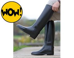 Ladies' Long Rubber Riding Boots (Wide)