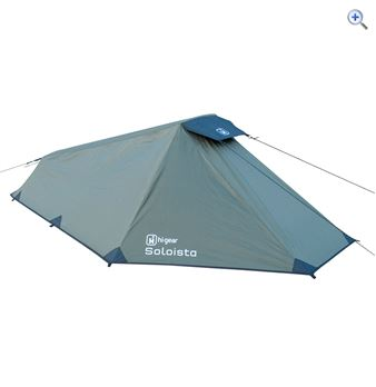 Hi Gear Soloista Backpacking Tent - Colour: Green