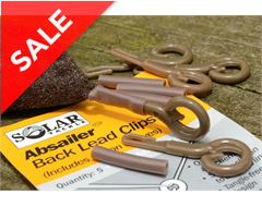 Absailer Back Lead Clips, Brown x 5