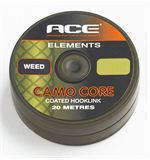Camo Core Coated Hooklink, Weed, 20lb