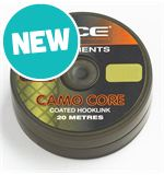 Camo Core Coated Hooklink, Weed, 15lb
