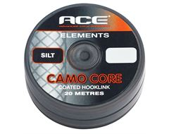Camo Core Coated Hooklink, Silt, 20lb