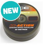 RE-ACTION Sinking Braid Hooklink, Weed, 20lb