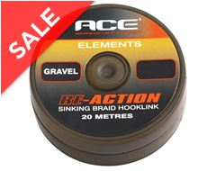 RE-ACTION Sinking Braid Hooklink, Gravel, 20lb