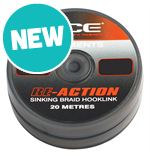 RE-ACTION Sinking Braid Hooklink, Silt, 20lb