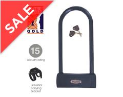 Hammerhead 290™ Sold Secure Gold 'D' Bike Lock