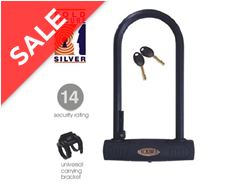 Reef 290 Sold Secure Silver 'D' Bike Lock