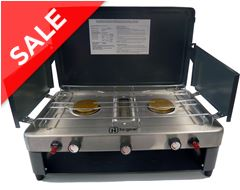 Double Burner Camping Stove with Grill