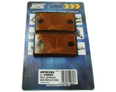 Amber Side Reflectors (2 pack)