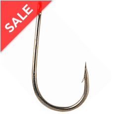 B980 Eyed Specimen Barbed Hooks, Size 4, pack of 10