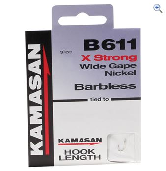 Kamasan B611 Barbless Hook to Nylon Size 20 pack of 8