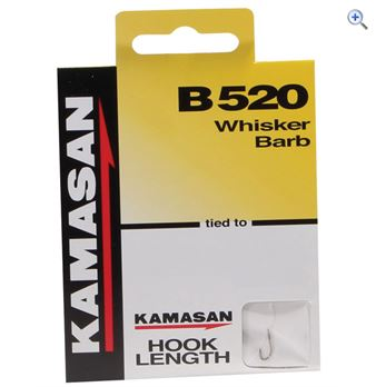 Kamasan B520 Whisker Barb Hook to Nylon Size 22 pack of 8