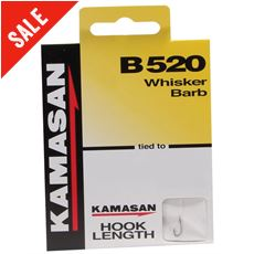 B520 Whisker Barb Hook to Nylon, Size 20, pack of 8