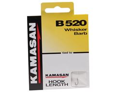 B520 Whisker Barb Hook to Nylon, Size 18, pack of 8