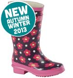 Girls' Floral Welly