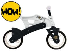 Police Boy's Adjustable Balance Bike