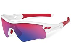 Polarized Radar Path Sunglasses (Polished White/ Red Iridium)