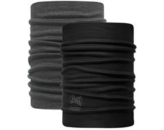 Reversible Merino Wool Neckwarmer Buff® (Black-Grey)