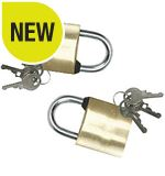 Brass Padlocks (2 Pack)