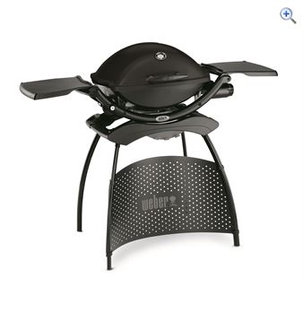 Weber Q2200 Small Gas Barbecue (With Stand) - Colour: Black