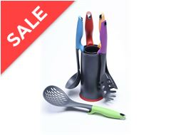 5 Piece Utensil Set with Grater