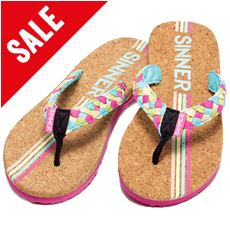 Cork Stripes Flipflops