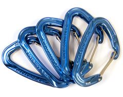 Xenon Wire Gate Anodised Carabiner (5 Pack)