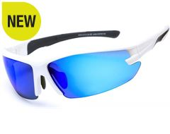 Speed Sunglasses (White/PC Smoke)
