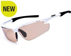 Raptor Sunglasses (White/Chromatic Orange)