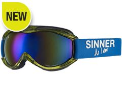 Toxic Ski Goggles (Clear Neon Green/Double Blue Revo)