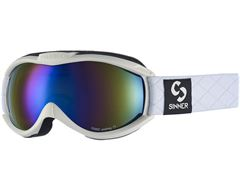 Toxic Ski Goggles (Matt White/Double Blue Revo)