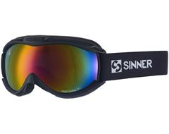 Toxic Ski Goggles (Matt Black/Double Red Revo)