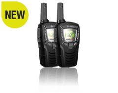 MT645 Walkie Talkie Radio with Batteries and Charging Cable (Pack of 2)