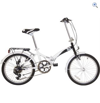 Compass Northern Folding Bike  Colour White And Black