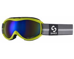 Toxic S Ski Goggles (Matt Lime/Double Blue Revo)