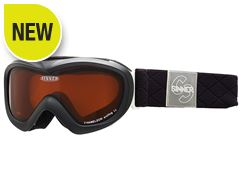Chameleon Kids' Ski Goggles (Matt Black/Double Orange)
