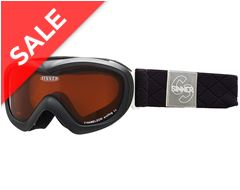 Chameleon Kids' Ski Goggles (Matte Black/Double Orange)
