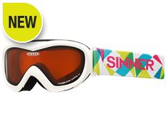 Chameleon Kids' Ski Goggles (Matt White/Double Orange)