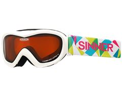 Chameleon Kids' Ski Goggles (Matte White/Double Orange)