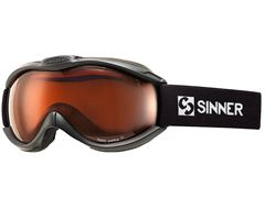 Toxic Ski Goggles (Matt Black/Double Orange)